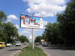 Уменьшение билбордов на украинских дорогах