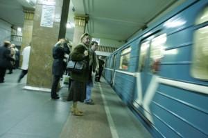 Разрыв поезда в киевском метро