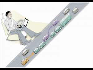 Беспилотная езда на машинах скоро станет реальностью с volvo SARTRE